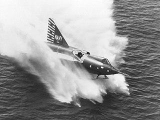 Convair F2Y Sea Dart Hydroski jet fighter, U.S. Navy, 1953