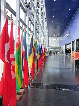 Organisation internationale de la Francophonie - Flags of the Francophonie members.