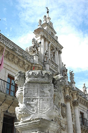 Facade of the University of Valladolid - Details on the facade.