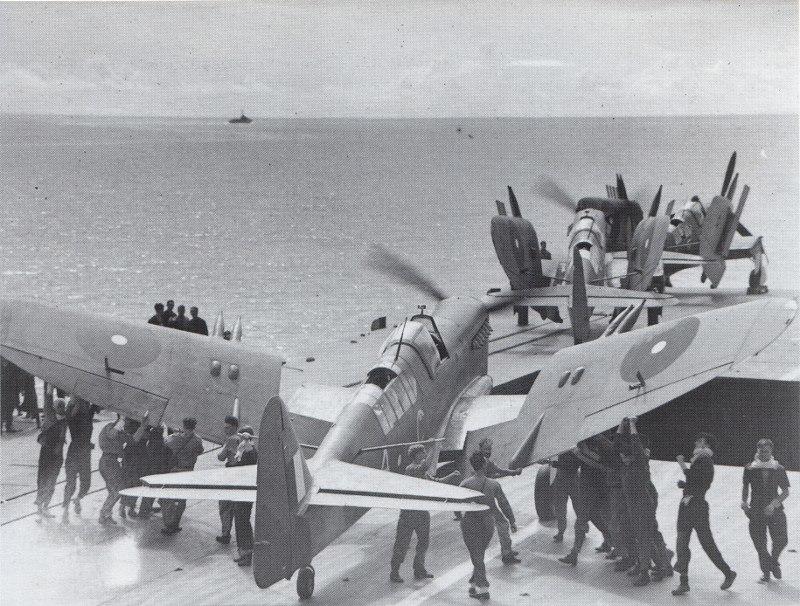 Fairey Fireflies on HMS Indefatigable 4 January 1945