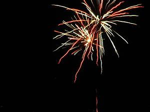 Saint Sylvester's Day - Saint Sylvester's Day fireworks in Kraków