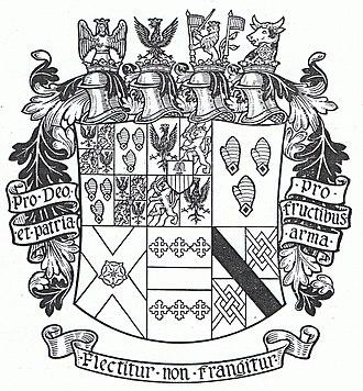 Earl of Westmorland - Image: Fanede Salis Armsfrom Arthur Fox Davies 1929