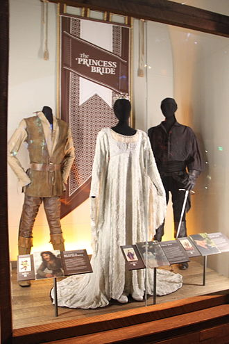 Phyllis Dalton - Dalton's costumes for Montoya, Buttercup and Westley for The Princess Bride (1987) on display at the EMP Museum, Seattle