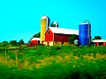 Farm on Hwy 19 with a Harvestore® Silo - panoramio.jpg