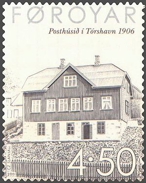Posta (company) - In 1906, Tórshavn Post Office got its own building.