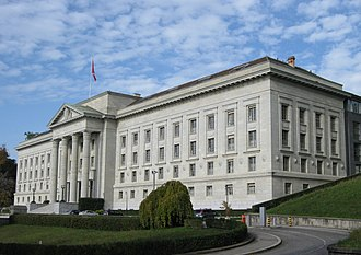 The Supreme Court of Switzerland in Lausanne. Federal Supreme Court of Switzerland, 2012 (cropped).JPG