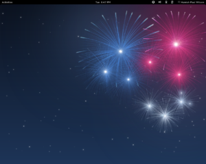 Fedora 17 GNOME Shell Desktop