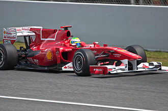 2010 Spanish Grand Prix - Ferrari changed the livery on the F10's engine cover after the team was accused of promoting Marlboro cigarettes with its previous design.