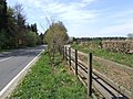 Fenced off old road alongside A1075 - geograph.org.uk - 406486.jpg