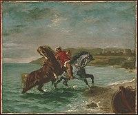 Ferdinand-Victor-Eugène Delacroix - Horses Coming Out of the Sea - Google Art Project.jpg