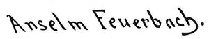 Signatur Anselm Feuerbachs