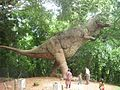 Fiberglass model of dinosaur, Hill Palace, Tripunithura (July 2011).jpg