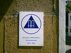 Alcoholics anonymous wikipedia aa meeting sign german fandeluxe Images