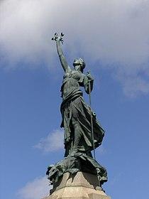 Figure of Victory atop Exeter War Memorial.jpg