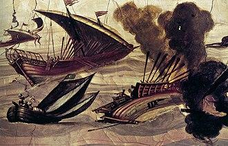 Filippo Napoletano - Image: Filippo Napoletano Naval Battle WGA16430