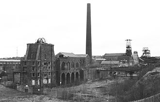 Chatterley Whitfield - Chatterley Whitfield Colliery from the nearby spoil heap