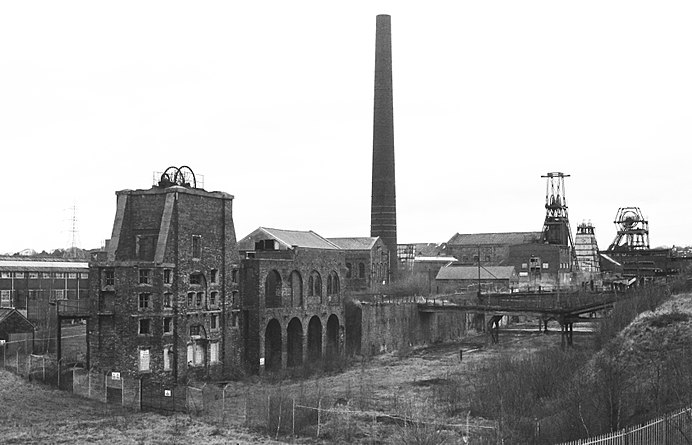 Chatterley Whitfield Colliery from the nearby spoil heap
