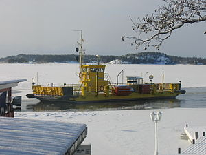 Archipelago Sea - A cable ferry in winter