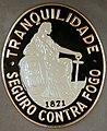 Fire mark for Companhia de Seguros Tranquilidade Protuense in Porto, Portugal.jpg