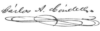 Carlos Condell - Image: Firma Carlos Condell