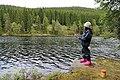 Fisking med mark ved Nordre Huetjernet på Totenåsen.jpg
