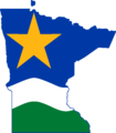 Flag Map of Minnesota (North Star Flag).png