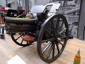 Northamptonshire Battery, Royal Field Artillery - Preserved 4.5-inch howitzer