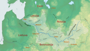 Daugava - The drainage basin of the Daugava