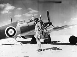Flying Officer Woodward of 33 Squadron RAF Egypt WWII IWM ME(RAF) 167.jpg