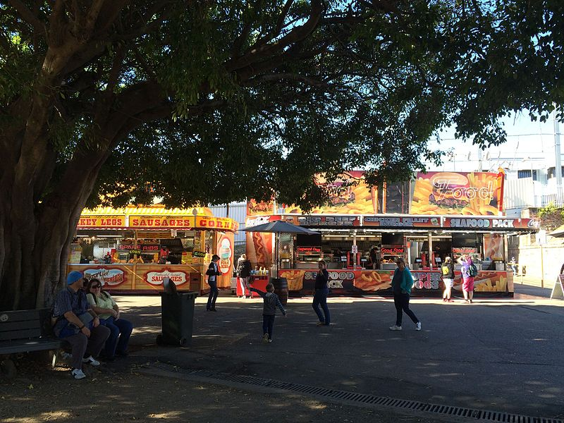 Exhibition Stall Wiki : File food stalls from under the spreading trees ekka