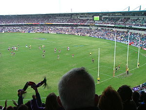 An AFL match at Subiaco Oval in Perth