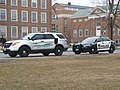 Ford Explorer Police Interceptor Utility (Dartmouth College Safety and Security) and Ford Taurus Police Interceptor (Hanover Police) (8615573074).jpg