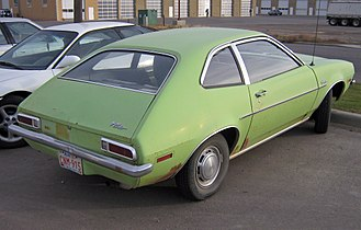 Ford Pinto - 1971–1972 Ford Pinto sedan with enclosed trunk