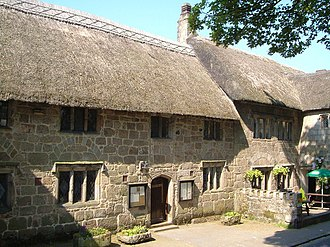 Grade II* listed buildings in West Devon - Image: Former church house, Chagford (geograph 3003916)