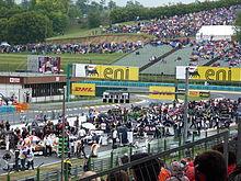 Photo de la mise en grille du Grand Prix au Hungaroring.