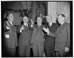 John Hamilton (Kansas) - 1939 salute to Republicans by John Hamilton, Robert A. Taft, Raymond E. Baldwin, Clyde M. Reed, and Joseph William Martin, Jr.