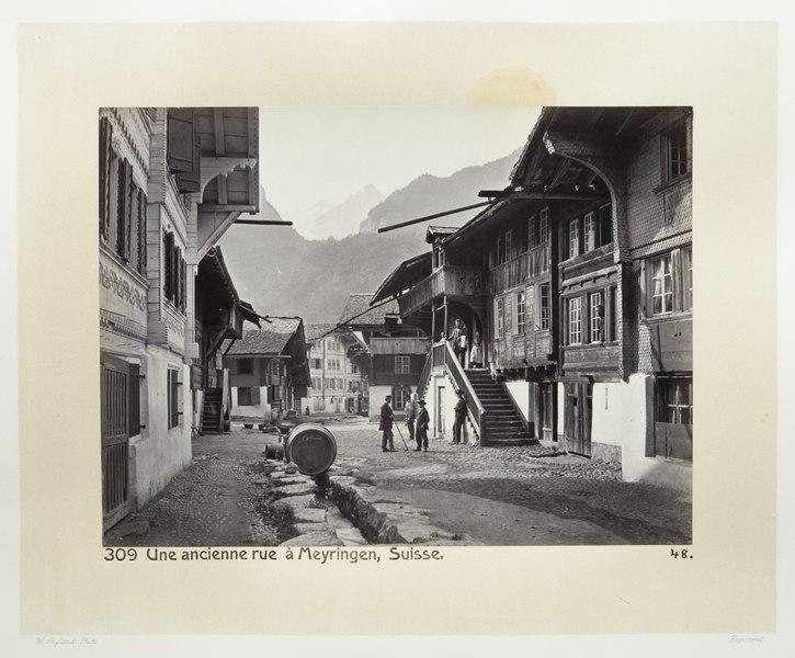 Fotografi av gata i Meyringen - Hallwylska museet - 103181