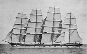 Four masted ship woodget c1895.jpg