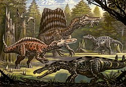 Four spinosaurids by Abelov2014.jpg