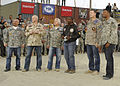 Fox NFL Sunday team at Bagram Airfield 2009-11-07 3.JPG