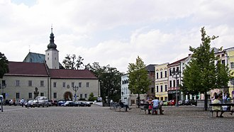 Frýdek, Frýdek-Místek - A Market Square and a castle in Frýdek