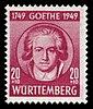 Fr. Zone Württemberg 1949 45 Johann Wolfgang von Goethe.jpg