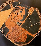 Maenad depicted in red-figure cup, ca. 480 BC, Louvre