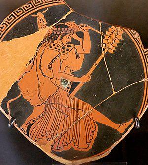 Argaeus I of Macedon - Image: Fragment Maenad Louvre G160