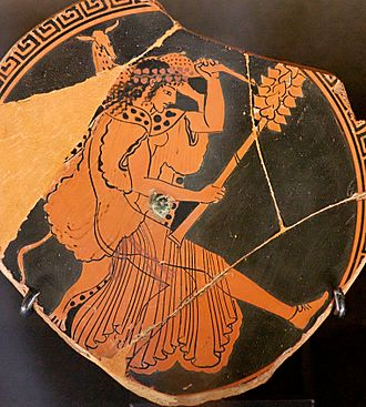 Argaeus I of Macedon - According to Polyaenus' story, Argaeus founded the Dionysus cult with Maenads (latter depicted on a 480 BC vase fragment).
