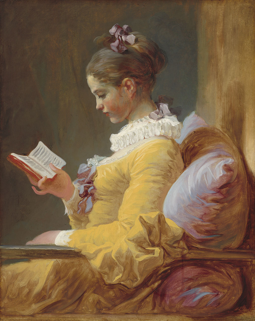 """A Young Girl Reading"" by Jean-Honoré Fragonard"