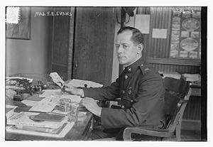 Frank Evans (general) - Evans in 1917