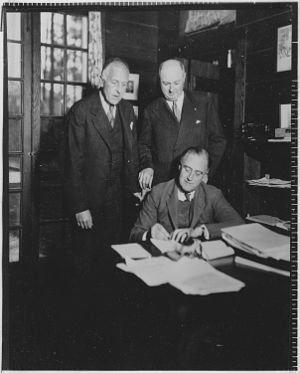 James Farley - Charles Richard Crane, Farley, and Roosevelt in Warm Springs, Georgia, December 1931