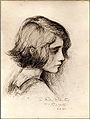 Frederic Yates conte crayon Sketch of Maxine Forbes-Robertson, age nine years.jpg