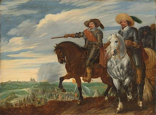 Frederik Hendrik en Ernst Casimir bij het beleg van Den Bosch Prins Frederik Hendrik en graaf Ernst Casimir bij het beleg van 's-Hertogenbosch, 1629, SK-A-607